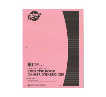 Cahiers d'exercices brochés, 1 unité, rose
