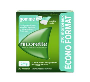 Image du produit Nicorette - Gomme de polacrilex de nicotine USP 2mg, 210 unités, menthe verte