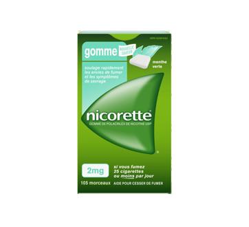 Image du produit Nicorette - Gomme de polacrilex de nicotine USP 2mg, 105 unités, menthe verte