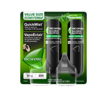 Image du produit Nicorette - VapoÉclair aide de renoncement au tabac, 1 mg, 2 unités, menthe fraîche