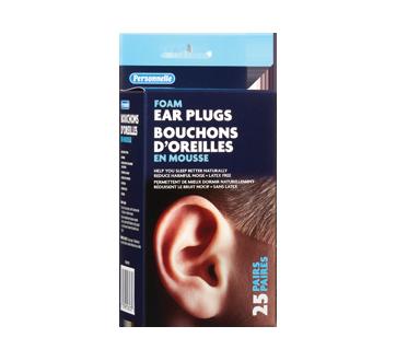Image du produit Personnelle - Bouchons d'oreilles en mousse, 25 unités