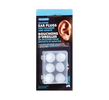 Image du produit Personnelle - Bouchons d'oreilles en silicone pour enfants et adultes, 3 unités