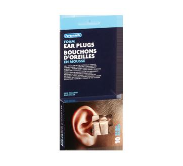 Image du produit Personnelle - Bouchons d'oreilles en mousse, 10 unités
