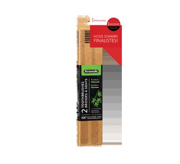 Brosses à dents en bambou, 2 unités, souple