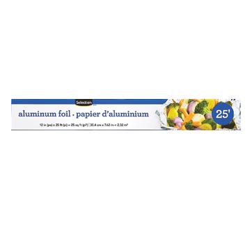 Papier d'aluminium, 25', 1 unité