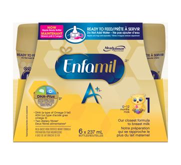 Préparation pour nourrissons Enfamil A+, bouteilles prêtes à utiliser à la tétine, 6 unités
