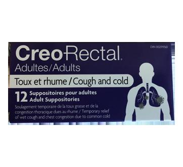 Image du produit Creo-Rectal - Suppositoires pour adultes, 12 unités, toux et rhume