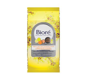 Image du produit Bioré - Lingettes nettoyantes purifiantes pour les pores à l'hamamélis de Virginie, 30 unités
