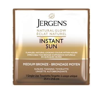 Éclat Naturel Instant Sun lingettes à bronzage moyen, 6 unités