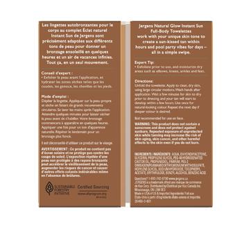Image 3 du produit Jergens - Éclat naturel, Instant Sun lingettes, 6 unités, moyen