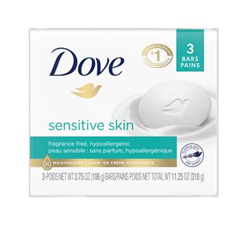 Pain de beauté peau sensible, 3 unités