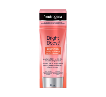 Bright Boost micro-gommage retexturisant, 75 ml
