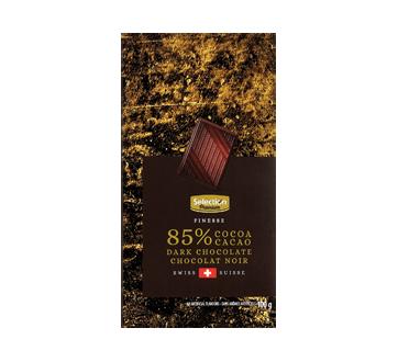 Barre de chocolat noir Suisse 85%, 100 g