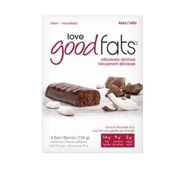 Image du produit Love Good Fats - Barre au noix de coco et chocolat, 4 unités