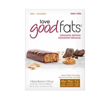 Image du produit Love Good Fats - Barre au beurre d'arachide et chocolat, 4 unités