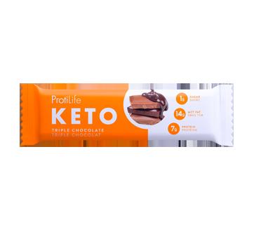 Image du produit ProtiLife - barre Keto à saveur triple chocolat, 40 g