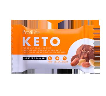 Image du produit ProtiLife - Bouchées Keto de type bombe de gras à saveur chocolat, arachides et sel de mer, 42 g