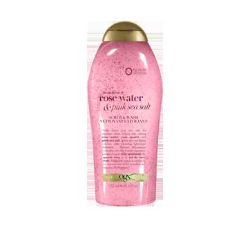 Nettoyant exfoliant, sel marin rose et eau de rose, 577 ml