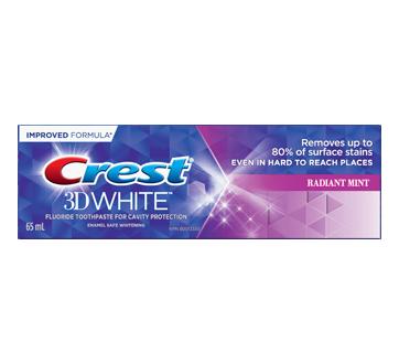 3D White dentifrice blanchissant, 65 ml, éclat de menthe