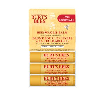 Baume pour les lèvres à la cire d'abeille, 3 unités