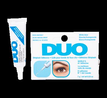 Duo colle pour bande de faux cils, 1 unité, blanche/transparente