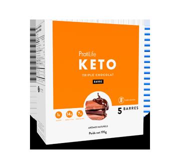 Image du produit ProtiLife - Keto barres, 5 X 40 g, triple chocolat