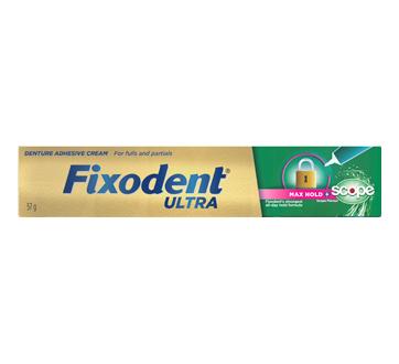 Crème adhésive pour prothèses Fixodent Ultra avec saveur de Scope, 51 g