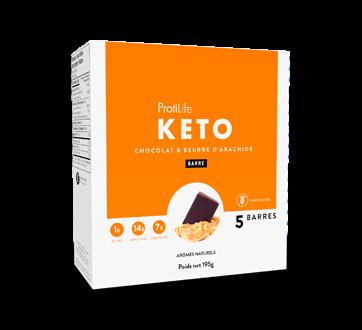 Image 1 du produit ProtiLife - Keto barres, 5 X 40 g, chocolat et beurre d'arachide