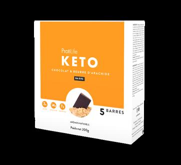 Image 2 du produit ProtiLife - Keto barres, 5 X 40 g, chocolat et beurre d'arachide