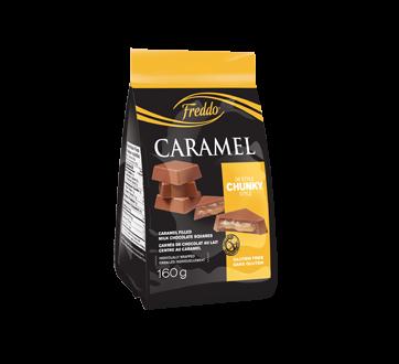 Carrés chunky au chocolat au lait et caramel, 160 g