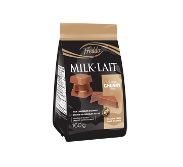 Carrés chunky au chocolat au lait, 160 g