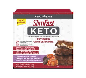 Image du produit SlimFast - Keto grosse bombe, 14 x 17 g, grappes de noix au caramel