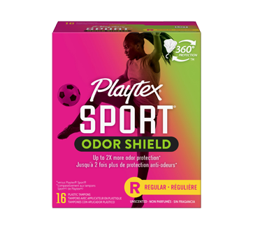 Sport Odor Shield tampons non parfumés, 16 unités, régulier