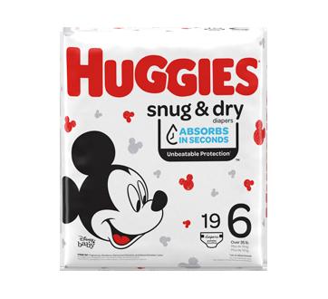 Couches Snug & Dry, 19 unités, taille 6