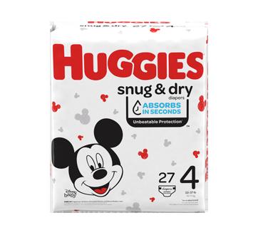 Couches Snug & Dry, 27 unités, taille 4