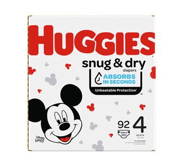 Couches Snug & Dry, 92 unités, taille 4