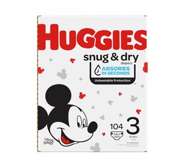 Couches Snug & Dry, 104 unités, taille 3