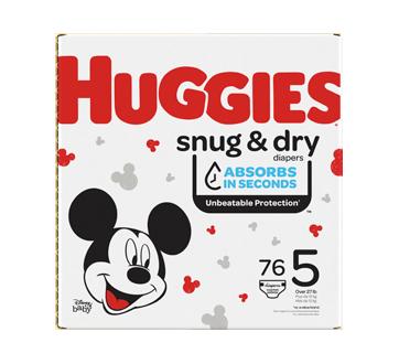 Couches Snug & Dry, 76 unités, taille 5