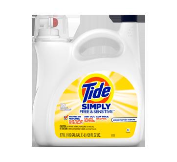 Détergent à lessive liquide Simply Free & Sensitive, 3,78 L, non-parfumé