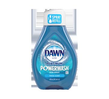 Ultra Platinum Powerwash recharge de détergent à vaiselle à vaporiser, 473 ml, parfum frais