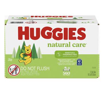 Natural Care lingettes pour bébés pour peau sensible, 560 unités, non-parfumé