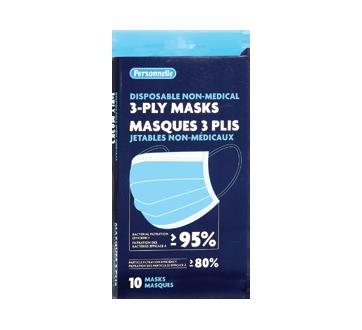 Image du produit Personnelle - Masques 3 plis jetables non-médicaux, 10 unités