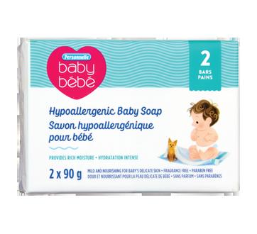 Savon hypoallergénique pour bébé, 2 x 90 g