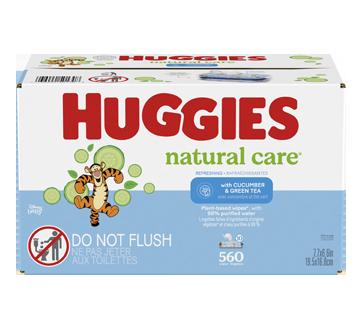 Natural Care Refreshing lingettes pour bébés, 560 unités, parfumé
