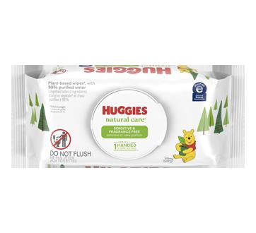 Natural Care lingettes pour bébés pour peau sensible, 56 unités, non-parfumé
