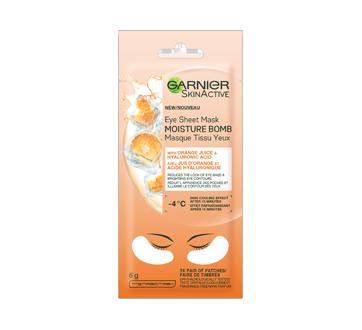 Skinactive bombe à l'humidité masque sachet pour les yeux avec jus d'orange, 6 g