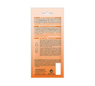 Image 2 du produit Garnier - Skinactive bombe à l'humidité masque sachet pour les yeux avec jus d'orange, 6 g