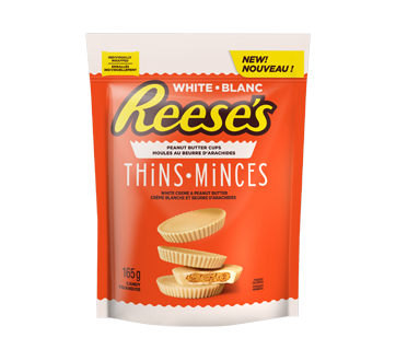 Reese's moules au beurre d'arachides mince, 165 g, blanc