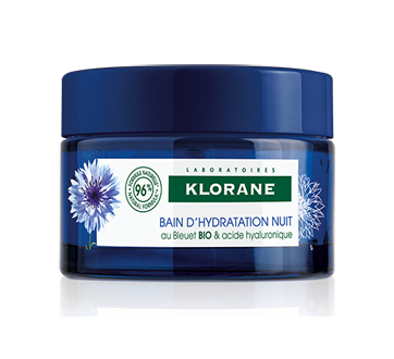 Bain d'hydratation nuit au bleuet bio, 50 ml