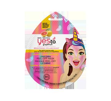 Masque peel-off licorne booster d'éclat à la vitamine C, 10 ml, pamplemousse